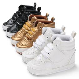 0-18M Toddler Shoes Baby Boy Girl PU Ankle Boots Crib Shoes
