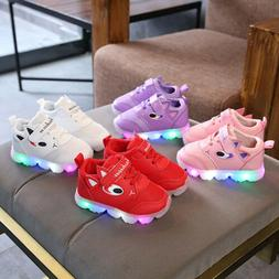 New Toddler Baby LED Light Shoes Boys Soft Luminous Outdoor