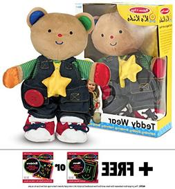 K's Kids Teddy Wear Plush + FREE Melissa & Doug Scratch Art