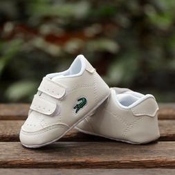 Baby Boy Girl White Sneakers Crib Shoes Infant Sneakers Size