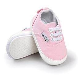 Baby Boys Girls Shoes Canvas Toddler Sneakers Anti-Slip Infa