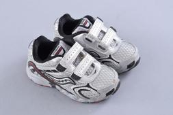 Saucony Baby Cohesion H&L Shoes | Boys US 6 EU 22 | Gray Red