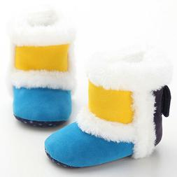 Baby Girl Winter snow Warm  boots Yellow/blue Toddler crib S