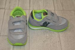 **Saucony Baby Jazz HL Sneaker - Toddler Size 6M, Grey/Lime