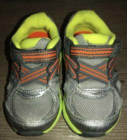 Saucony Baby Neon Grey Toddler Walking Boys  Shoes size 5.5