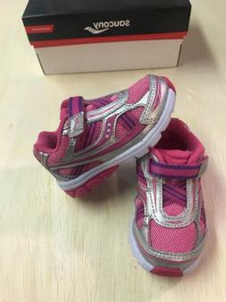 SAUCONY Baby RIDE Pink Silver Athletic Sneaker Shoes Toddler