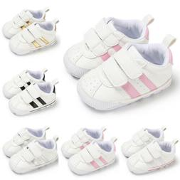 Child Baby Boy Girl Crib Shoes Faux Leather Infant Toddler P