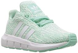 adidas Originals Baby Swift Running Shoe, Clear Mint/White/a