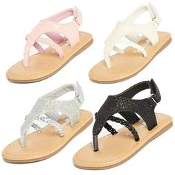 Baby toddler girl glitter thong sandals shoes size 1-6