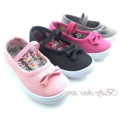 Infant Toddler girls sneakers canvas shoes 4-9 new