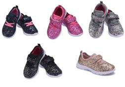 Baby Toddler Girls Sparkly Glitter Shoes Casual Athletic wal