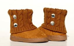 baby toddler winter faux suede rhinestone boots