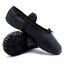 CIOR Ballet Slippers Leather Dance Shoes Yoga Gymnastics Fla