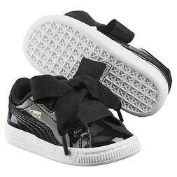 PUMA Basket Heart Patent Toddler Shoes Girls Shoe Kids