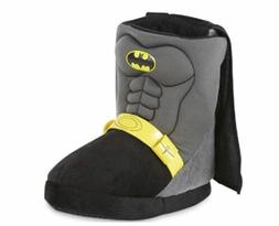 Batman DC Comics Toddler Boy's Black Boot Slip-On Slipper/Sh