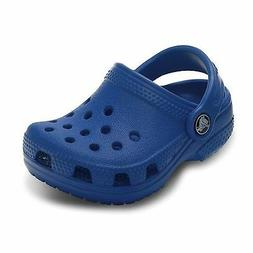 Boy's Toddler CROCS Blue Clogs/Mules Slip On Casual Sandals