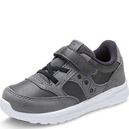 Saucony Boys' Baby Jazz LITE Sneaker, Grey, 9 Wide US Toddle