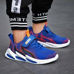 Boys Running Tennis Shoes Kids Breathable Sneakers Outdoor A