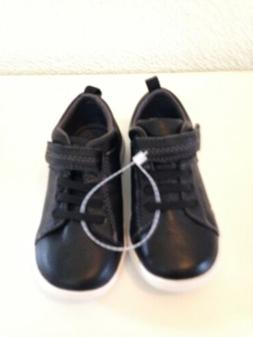 stride rite boys toddler baby SHOES black leather sz 6.5 USA