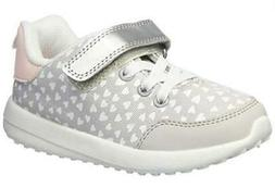 Carter's Burst2 Girls Sneakers Gray Heart Print Athletic Wal