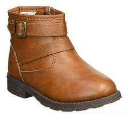 Carter's Cindia Girls Ankle Boots Brown Zip Up Dress Shoes T