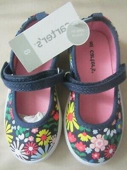Carter's Mary Jane Casual Shoes Toddler Girls Size 8 Multico