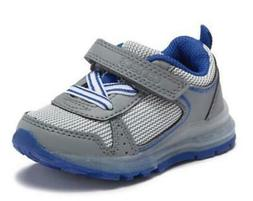 Carter's Maxie Kids Sneakers Gray+Blue Athletic Light Up Sho