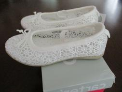 Carter's Ruby5 Toddler Size 8 Girls Ballet Flats White Shoes