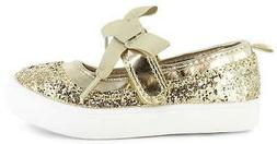 Carter's Shine2 Girls Dress Shoes Gold Glitter Mary Janes wi
