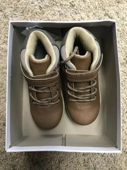 Carter's Toddler Boys Shoes Boots Size 10 Brown Gray NEW