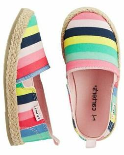 Carter's Toddler Girls Ari Espadrille Loafers Shoes NWT