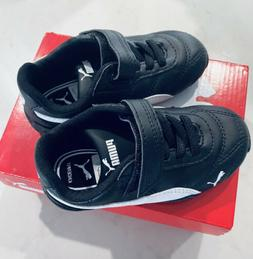 Puma  Cat Black & White Toddler Boys Shoes Size 8C. NEW with