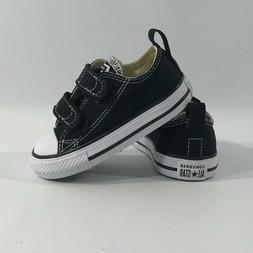 Converse Chuck Black White 2 Strap Baby Infant Toddler Boys
