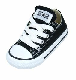 Converse Chuck Taylor Ox Black White Infant Toddler Boy Girl