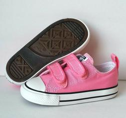 Converse Chuck Taylor Pink 2 Strap 2V OX Infant Toddler Girl