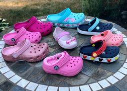 Crocs & Capelli Child Toddler Junior Water Shoes Pink Red Bl