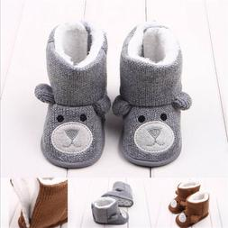 Cute Baby Girls Boys Winter Boots Toddler Cartoon Warm Boots