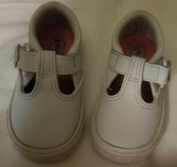 Keds Daphne T Strap Sneakers White Lea Size 4 M US Little Gi