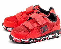 DC Forter V Red Black White Infant Toddler Baby Boy Shoes Sn