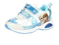 Disney Frozen Sneaker Toddler Girl's Shoes - Light Up, Blue/