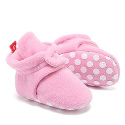 CIOR Fantiny Baby Fleece Booties with Non Skid Bottom,DNDNKX