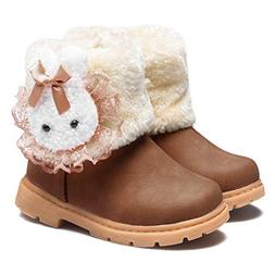 CIOR Fantiny Snow Boots Baby Girls Infant Toddler Winter Fur