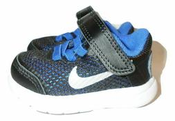 Nike Flex 2016 Run Toddler Shoes Black and Silver Color Boys