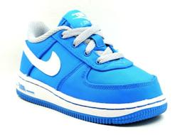 Nike Force One 1 Toddlers Shoes Sneakers Leather Casual Blue
