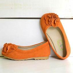 Foxpaws Orange Boutique Suede Rosette Kate Shoes Toddler Gir