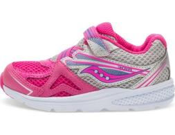 SAUCONY G-BABY RIDE 9 Youth Toddler Girls Shoes Pink/Silver