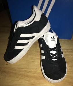 "ADIDAS GAZELLE ""Black""TODDLER GIRLS' CASUAL SHOES Size 10K"