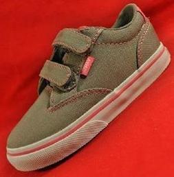 Girl's Toddler VANS WINSTON AC Gray/Pink Canvas Sneakers Ska