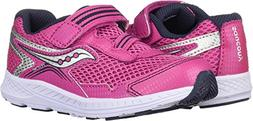 Saucony Girls' Ride 10 JR Sneaker, Pink/Silver, 8.5 M US Tod