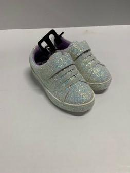 Wonder Nation Girls Toddler Athletic Shoes White/Purple Glit